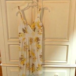 Sun Dress (white and yellow)